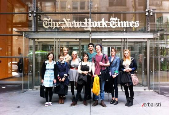 Verbalisti ispred čuvene izdavačke kuće The New York Times
