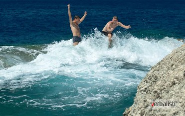 Kupanje vec pocetkom juna, za Davora nije bilo hladno, Ibiza 2013
