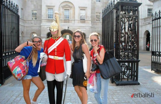 Language travel to the Britain's most important street Whitehall