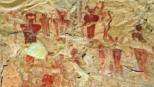 Petroglifi (vanzemaljaca) u Sego kanjonu