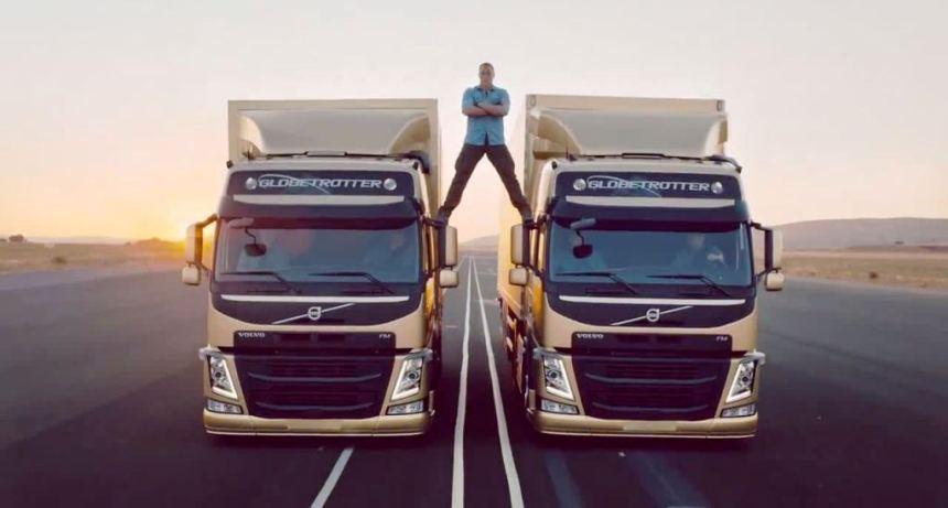 Van Dam i reklama za Volvo kamione