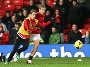 Soccer school Manchester United, Verbalists student with Nemanja Vidic