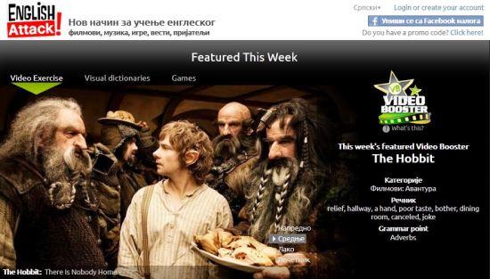 Video za ucenje engleskog jezika, The Hobbit, Verbalisti