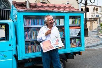 traveling mobile library of elementary school teacher and literary evangelist Antonio La Cava