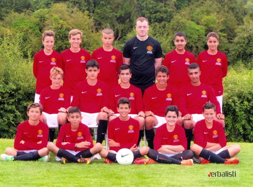 Jovan u svom timu, škola fudbala Manchester United