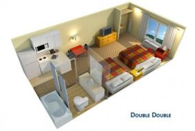 Brickell residence, double room floor plan
