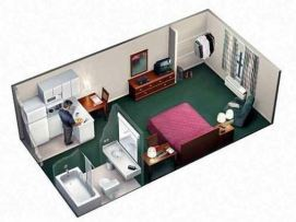 Brickell residence, single room floor plan