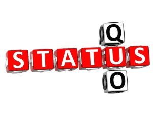 status-quo use in English