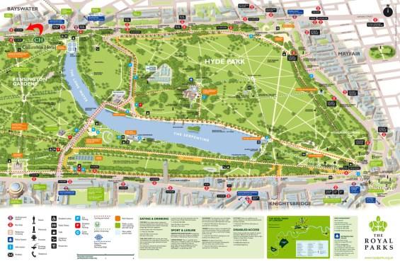 Hyde Park mapa