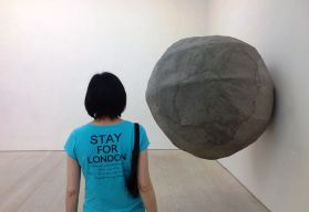 With Claudia Chan at Saatchi Gallery