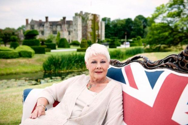 Dame Judi chose Hever Castle in Kent for her film
