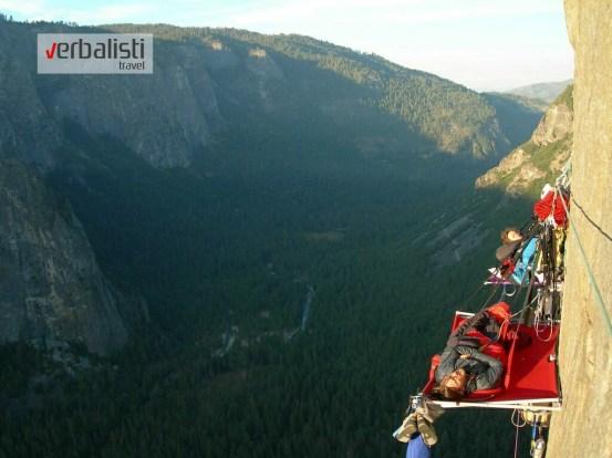 the cliffs of Yosemite Park
