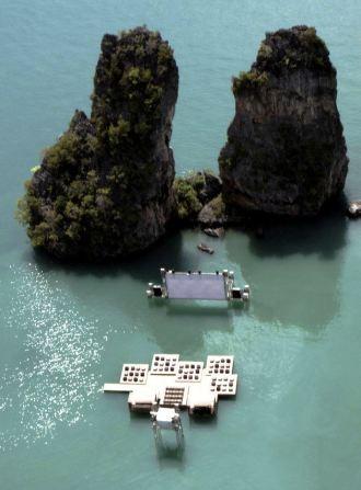 Archipelago Cinema by Ole Scheeren for Film on the Rocks Yao Noi, Thailand