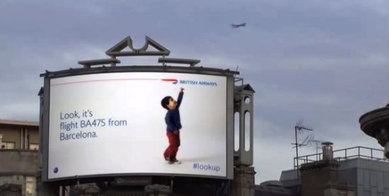 British Airways interactive billboard