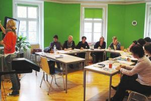 Verbalists students during the German language class in Vienna