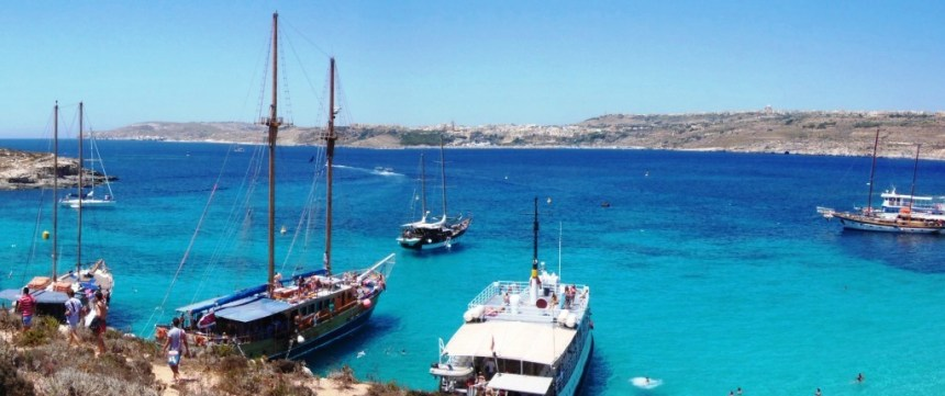 Malta and Comino landscape