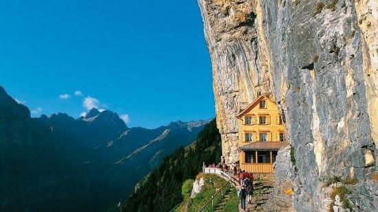 Äscher Cliff Restaurant in Switzerland