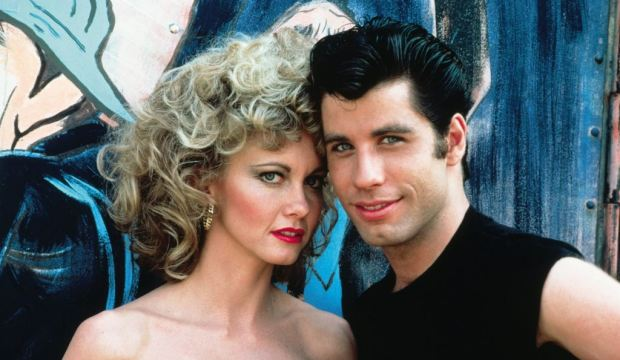 Olivia Newton-John and John Travolta, Grease