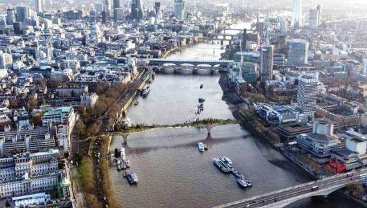 The Garden Bridge over the Thames will cost £150million