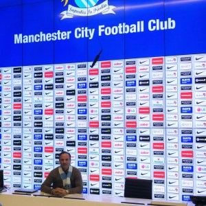 at the Media Centre of the Manchester City Football Club, Verbalists