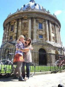 Verbalists students in Oxford (Radcliffe Camera)