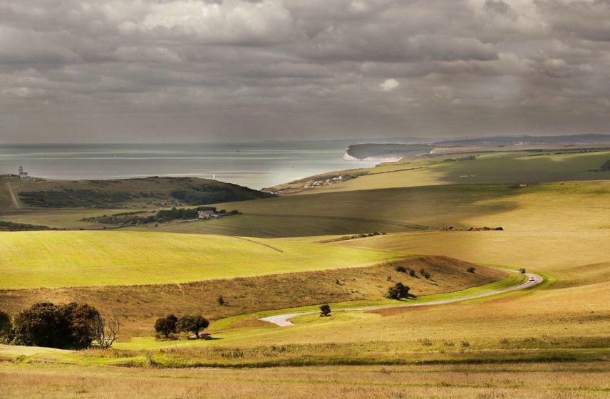 Gorgeous fields above Beachy Head