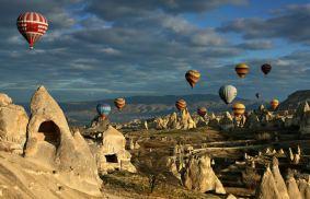 Hot air balloning in Cappadocia, Turkey