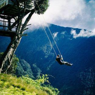 The swing in Baños, Ecuador