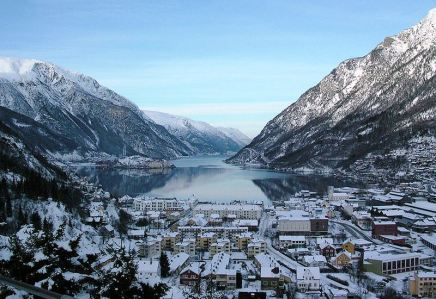 town of Odda, Norway