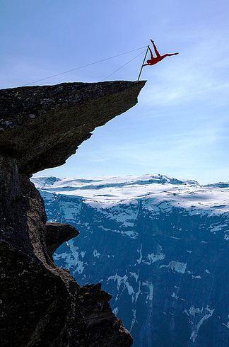 Trolltunga in Hordaland in Norway