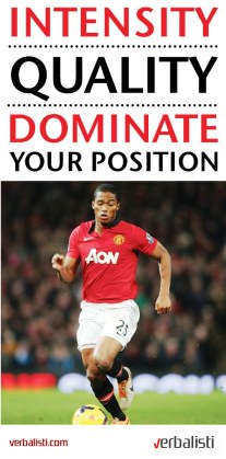 Manchester United soccer and language school, Dominate your position, Verbalisti