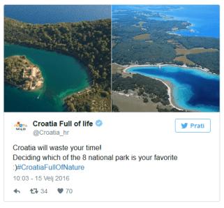 Social media campaign Croatia Full of Life