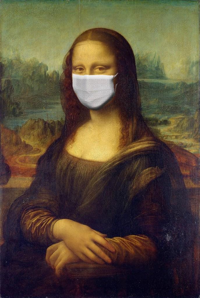 monalisa, mona lisa, mask