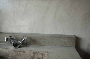 Badkamer VERBAU-betonstuc kleur #07/4 graniet.