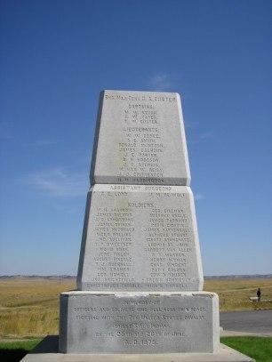 Memorial al Generale Custer e hai suoi soldati di Little Big Horne