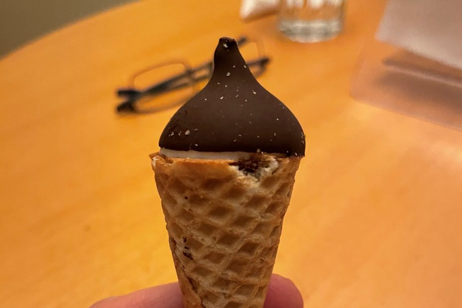 Very small ice cream cone