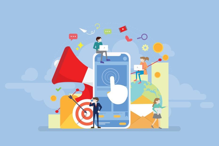 Mobile phone illustration