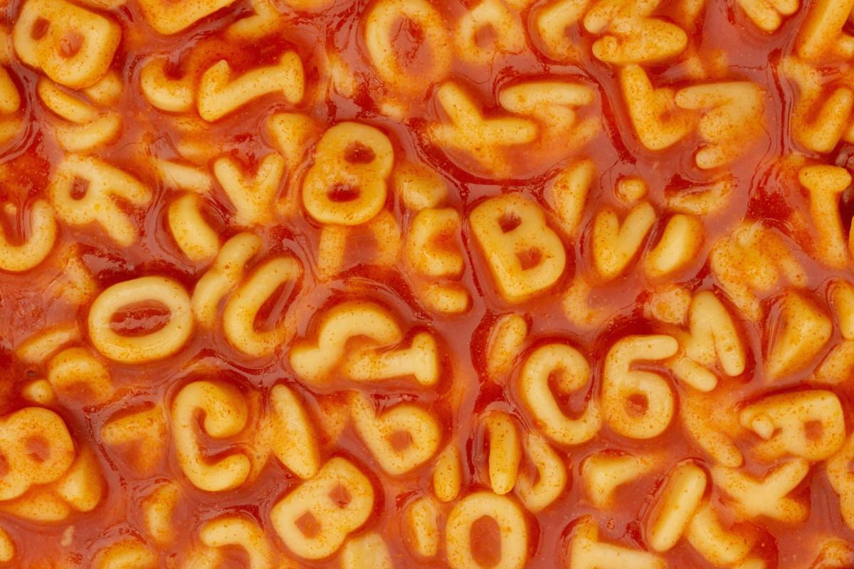 Alphabet soup photo