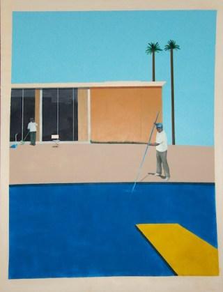 No Splash (2013). Acrylic on canvas. 96 x 96 inches. R. Gomez.