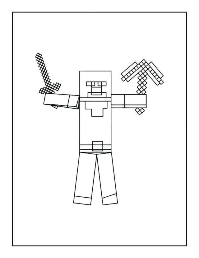 Free Minecraft Coloring Pages for Download (PDF) - VerbNow