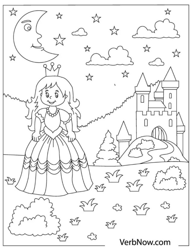 Free PRINCESS Coloring Pages for Download (Printable PDF)