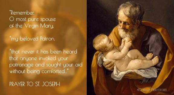 St Joseph, a model father