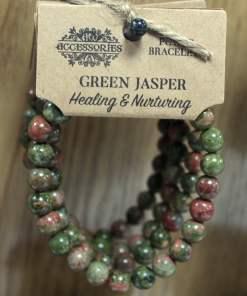 Brazalete de Energía - Jaspe verde