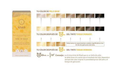 Herbal Color Khadi Rubio Toque Dorado 100 Gr