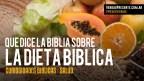 La Dieta Bíblica – Salud