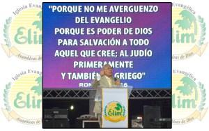 El mensaje central lo llevó el pastor de la Iglesia Elim, José Jayaro, y estuvo basado en Romanos 1:16 / IEM