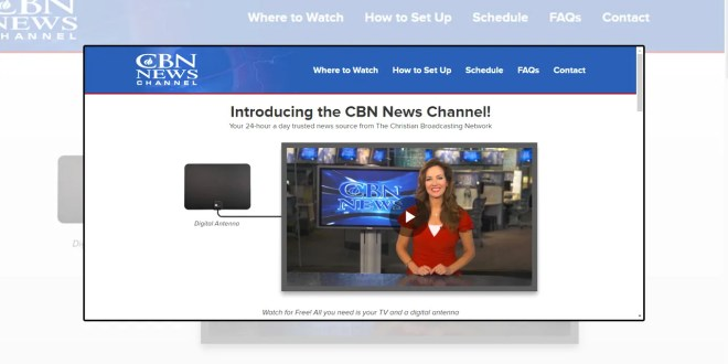The Christian Broadcasting Network lanza CBN News Channel