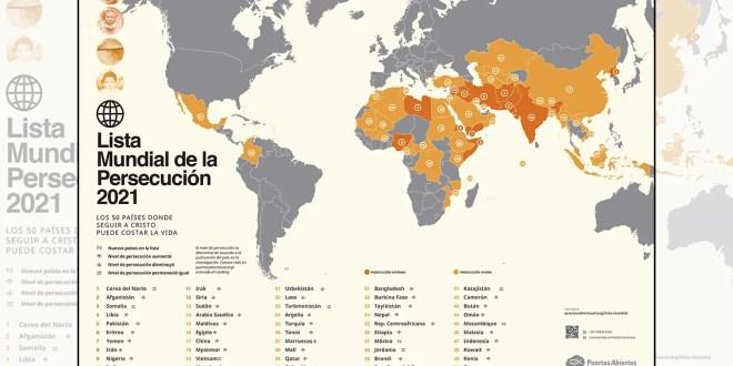 Puertas Abiertas publica su Lista Mundial de la Persecución 2021