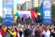 Con marchas multitudinarias en gran parte del país la Iglesia celebró a Jesucristo