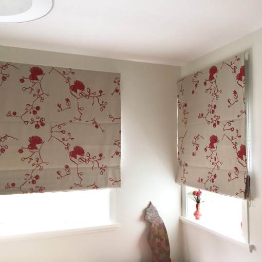 Fantail Blinds in Eco Linen